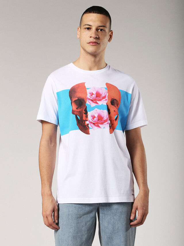 Diesel - T-JUST-SW, Bianco - T-Shirts - Image 1