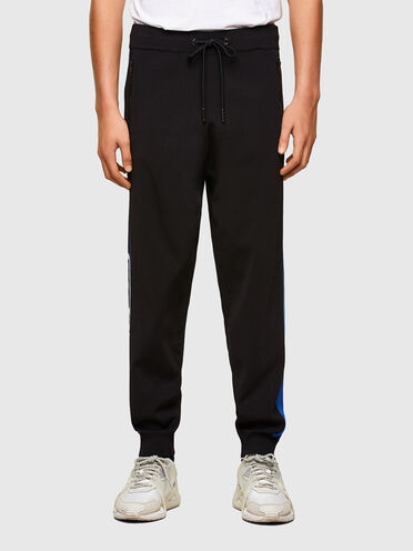 Pantaloni a maglia fine con bande laterali