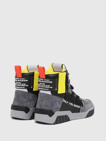 Diesel - S-RUA MID SP, Grigio/Nero - Sneakers - Image 3