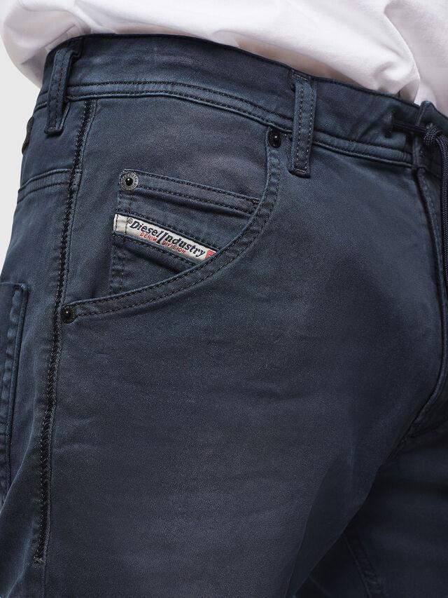 Diesel - Krooley Long JoggJeans 0670M, Blu Scuro - Jeans - Image 3