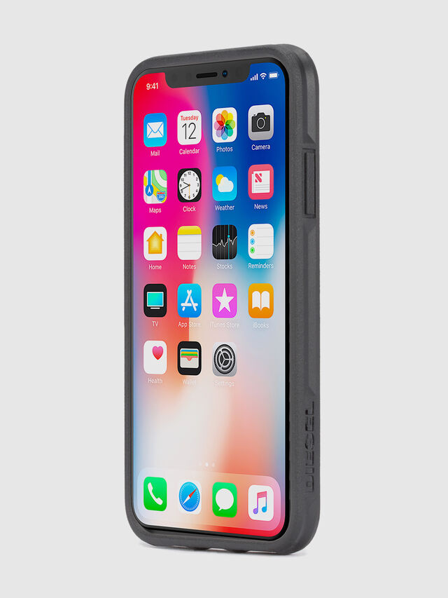 MOHICAN HEAD DOTS BLACK IPHONE X CASE, Nero