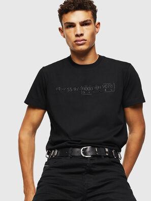 T-DIEGO-SLITS-J6, Nero - T-Shirts