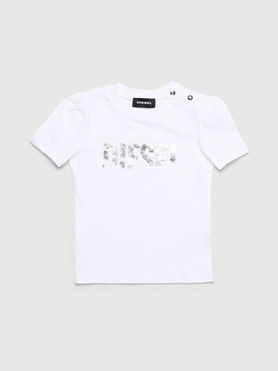 Diesel - TRALLYB, Bianco - T-shirts e Tops - Image 1