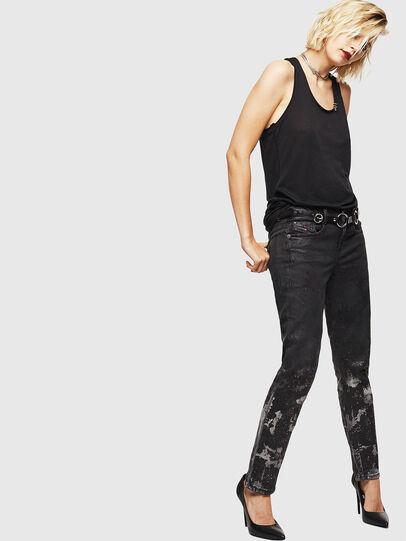 Diesel - D-Ollies JoggJeans 084AZ, Nero/Grigio scuro - Jeans - Image 6