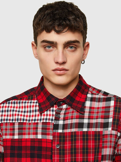 Diesel - S-MORRIS, Rosso/Bianco - Camicie - Image 3