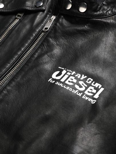 Diesel - US-L-CODY, Nero - Giacche di pelle - Image 3