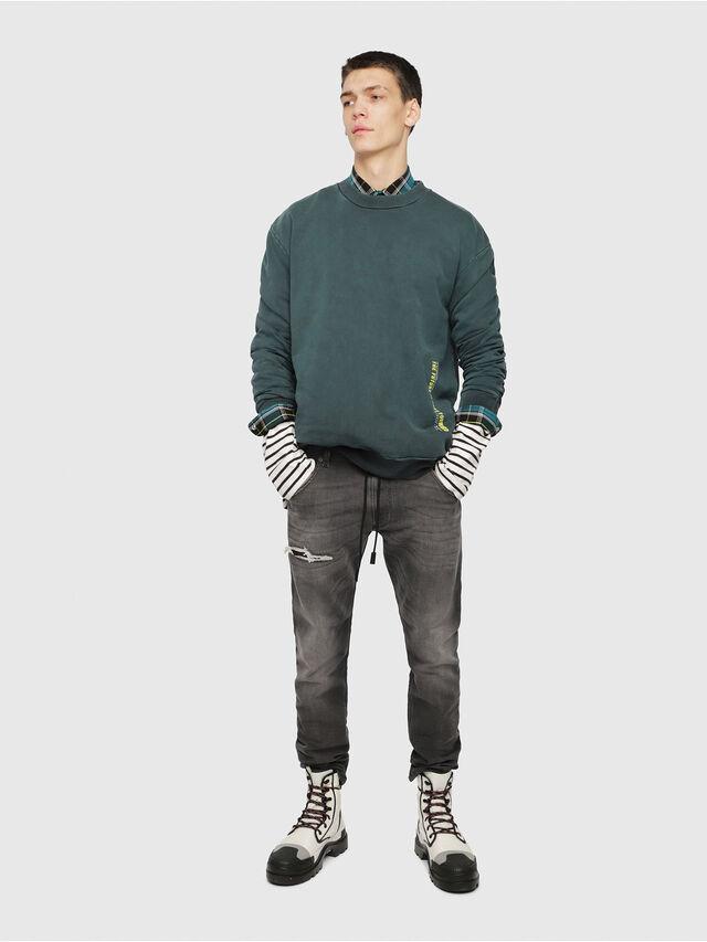 Diesel - Krooley JoggJeans 069EM, Nero/Grigio scuro - Jeans - Image 4