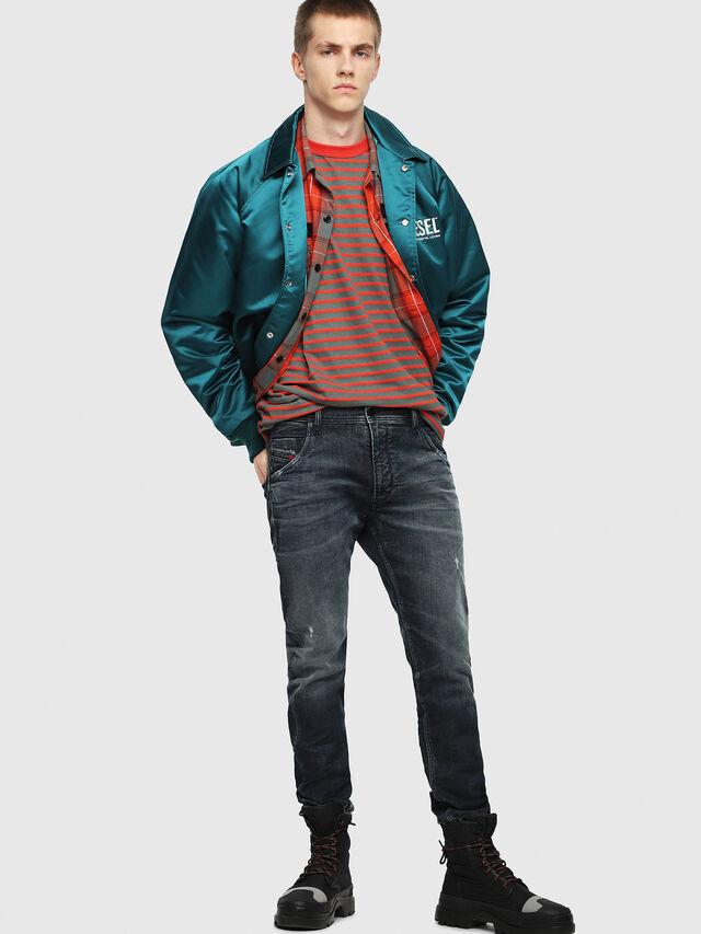 Diesel - Krooley JoggJeans 087AI, Blu Scuro - Jeans - Image 4