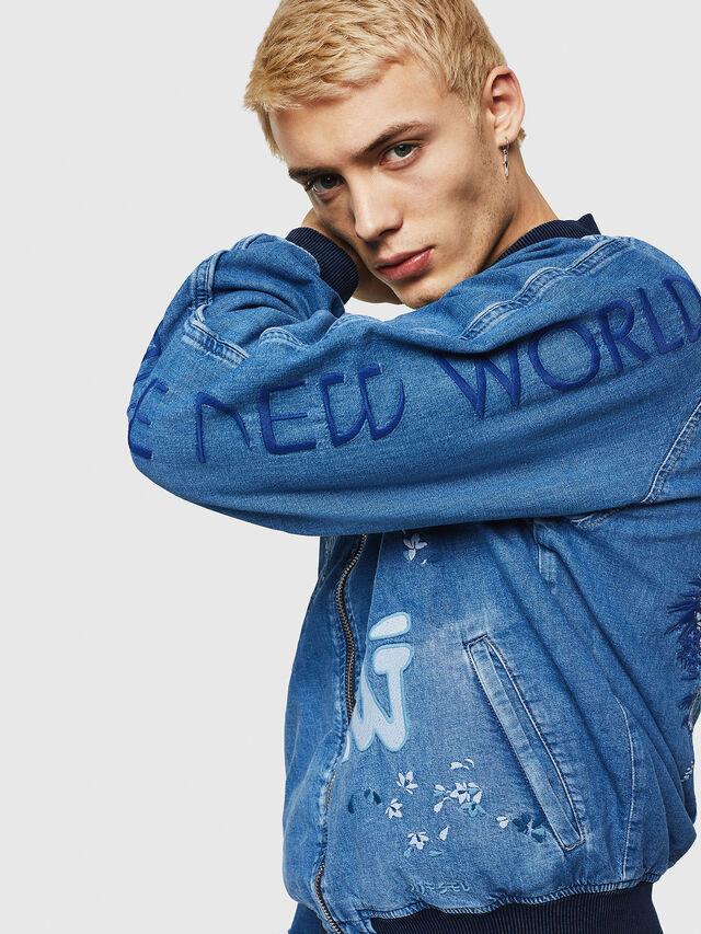 Diesel - D-BAK, Blu Jeans - Giacche in denim - Image 3