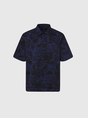 S-ROHAD-B, Nero/Blu - Camicie