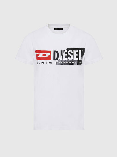 Diesel - T-SILY-CUTY, Bianco - T-Shirts - Image 1