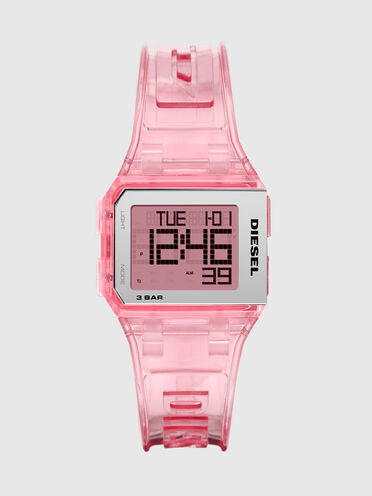 Orologio digitale Chopped trasparente millennial pink