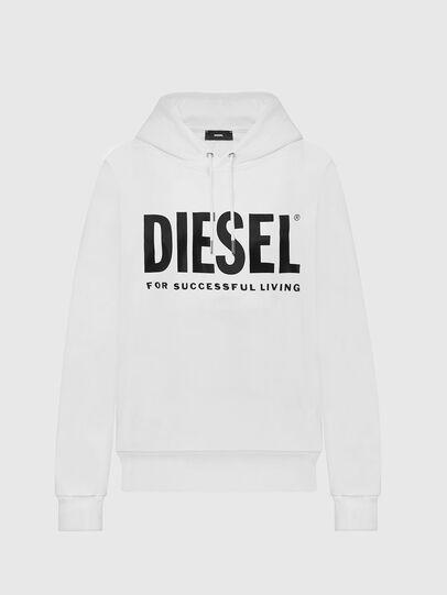 Diesel - F-ANG-HOOD-LOGO, Bianco - Felpe - Image 1