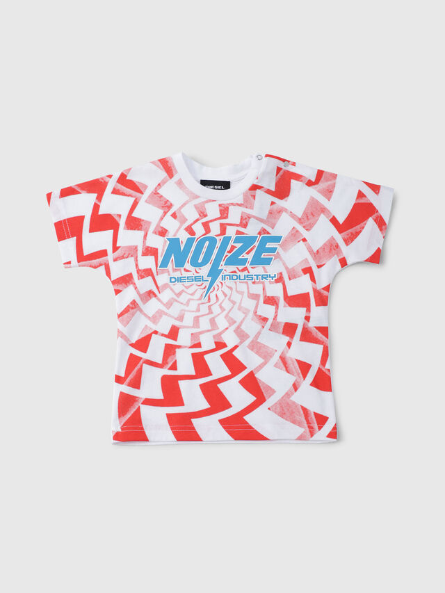 Diesel - TRUCCIB, Bianco/Rosso/Blu - T-shirts e Tops - Image 1