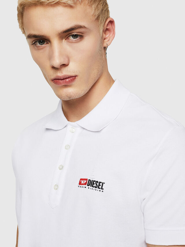 Diesel - T-WEET-DIV, Bianco - Polo - Image 3