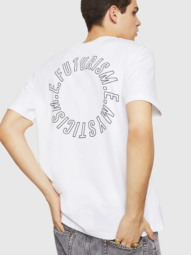 Diesel - T-JUST-Y19, Bianco - T-Shirts - Image 2