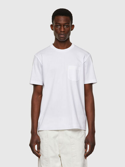 Diesel - T-JUST-WORKY, Bianco - T-Shirts - Image 1