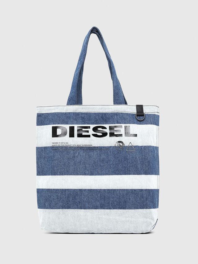 Diesel - F-THISBAG SHOPPER NS, Blu Jeans - Shopper e Borse a Spalla - Image 1