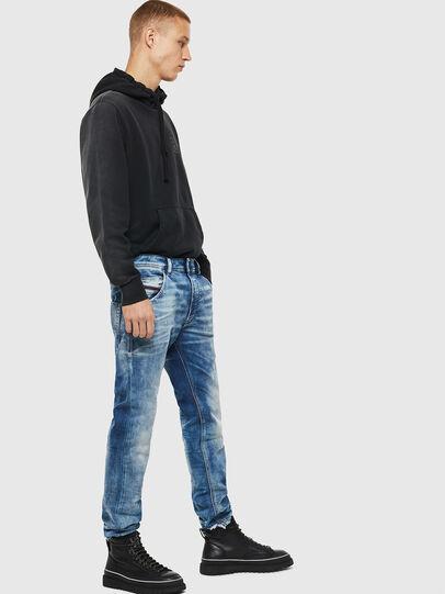 Diesel - Krooley JoggJeans 087AC, Blu medio - Jeans - Image 4
