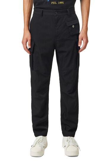 Pantaloni cargo in lana tecnica