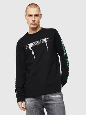 T-JUST-LS-VINT, Nero/Bianco - T-Shirts