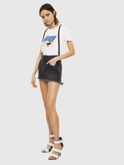 Diesel - T-SILY-S3, Bianco - T-Shirts - Image 5