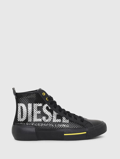 Diesel - S-DESE MID CUT, Nero/Giallo - Sneakers - Image 1
