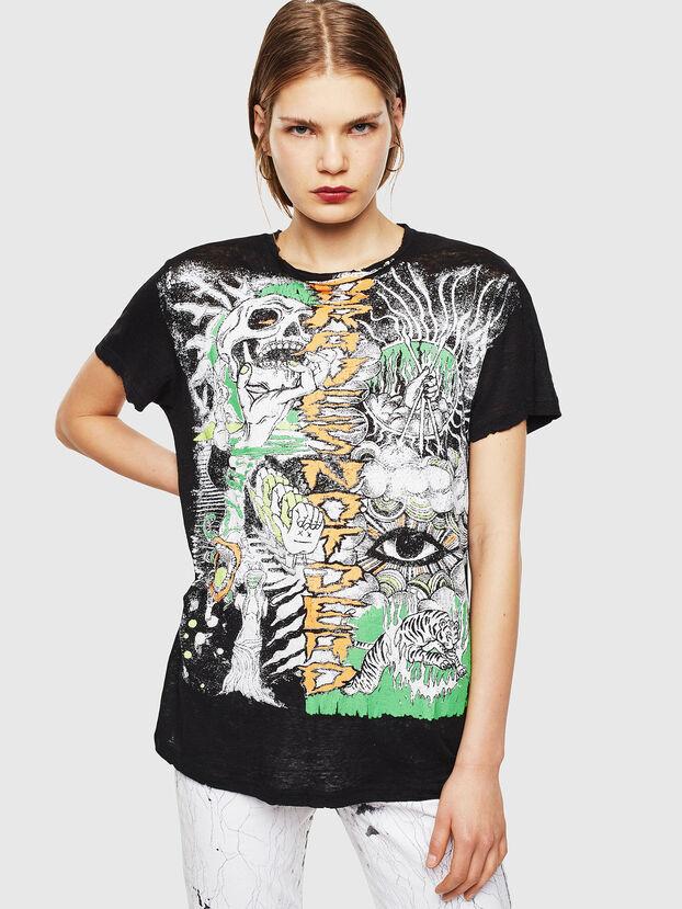 T-DARIA-YB, Nero - T-Shirts