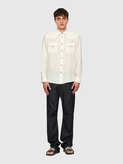 Diesel - S-EAST-LONG-LIN, Bianco - Camicie - Image 5