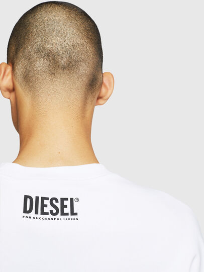 Diesel - S-BAY-BX4, Bianco - Felpe - Image 6