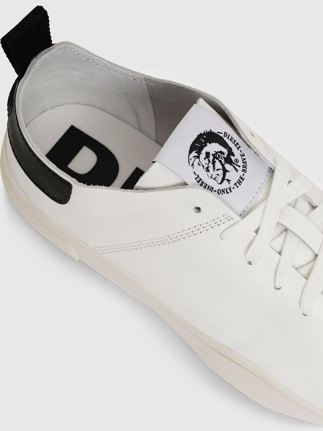 Diesel - S-CLEVER LS, Bianco/Nero - Sneakers - Image 4