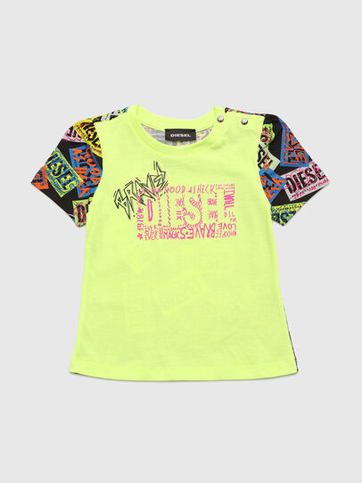 Diesel - TAIRB, Verde Fluo - T-shirts e Tops - Image 1