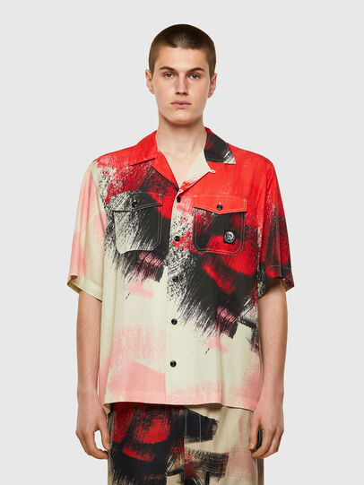 Diesel - S-WOLF-ALL, Rosso/Bianco - Camicie - Image 1