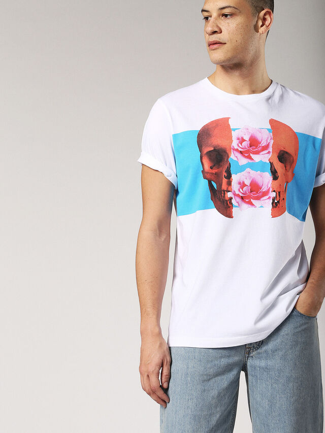 Diesel - T-JUST-SW, Bianco - T-Shirts - Image 3