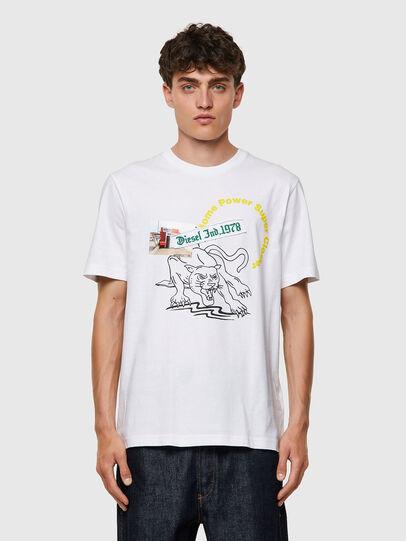 Diesel - T-JUST-B60, Bianco - T-Shirts - Image 1