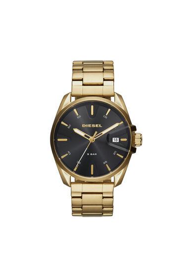 MS9 Chrono orologio in acciaio color oro, 44 mm