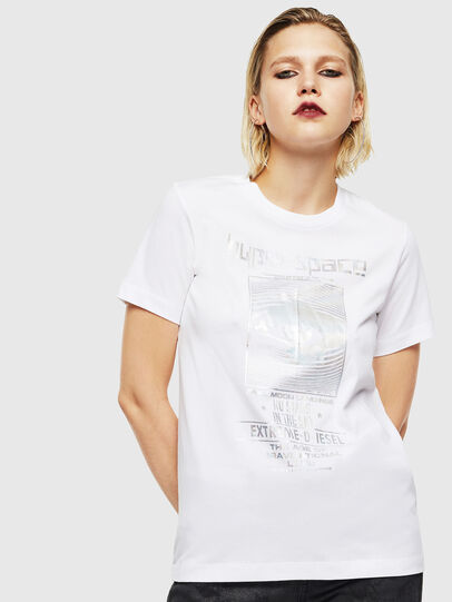 Diesel - T-SILY-YB, Bianco - T-Shirts - Image 1