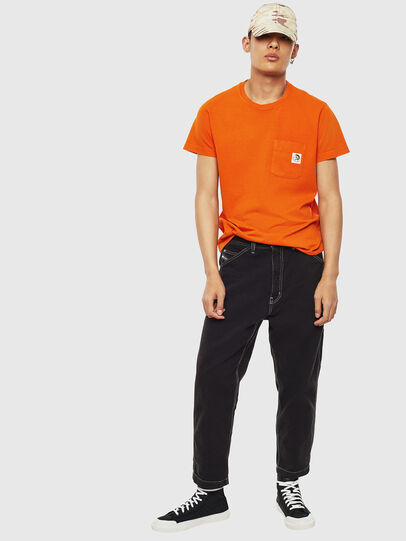 Diesel - T-WORKY-MOHI-S1, Arancione - T-Shirts - Image 5