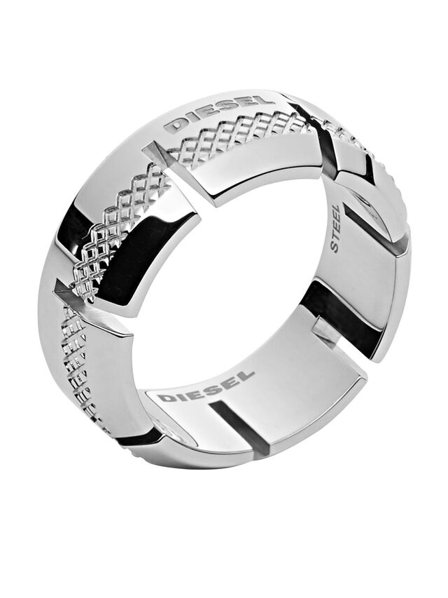 Diesel - RING DX1028, Argento - Anelli - Image 1