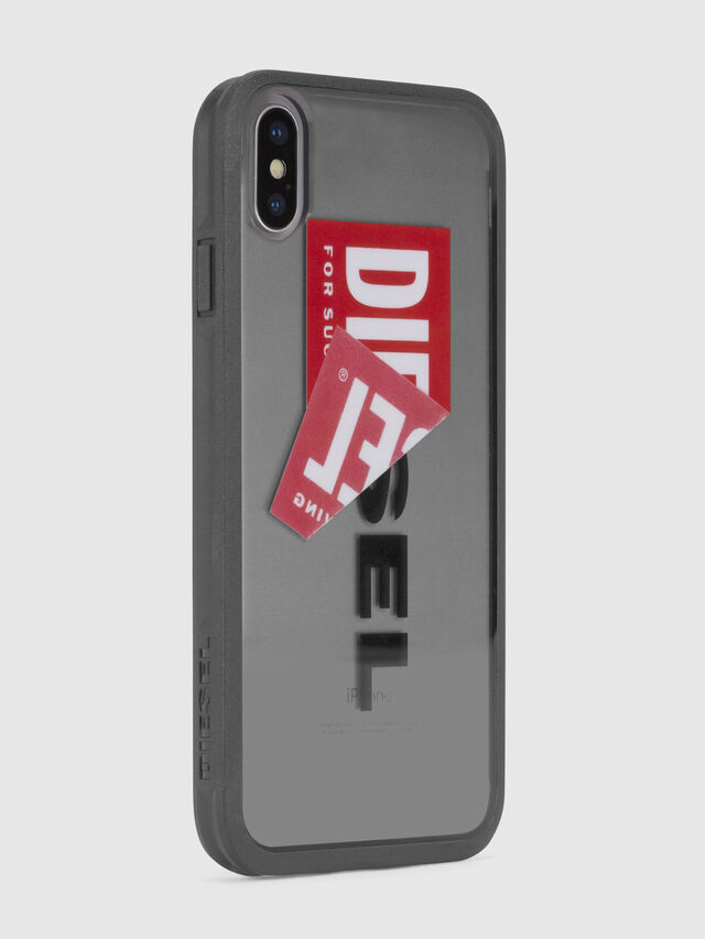 Diesel - STICKER IPHONE X CASE, Nero - Cover - Image 4