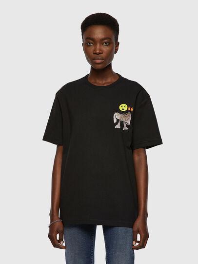 Diesel - T-BOYISH, Nero - T-Shirts - Image 1