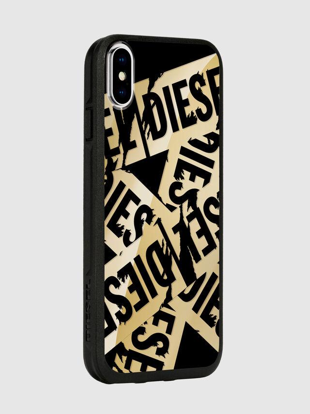 Diesel - MULTI TAPE GOLD/BLACK IPHONE X CASE, Oro - Cover - Image 6