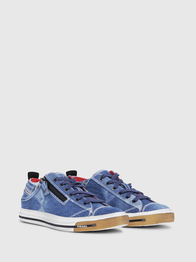 Diesel - EXPO-ZIP LOW W, Blu Jeans - Sneakers - Image 2