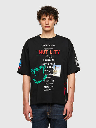 T-shirt in cotone con stampe varie