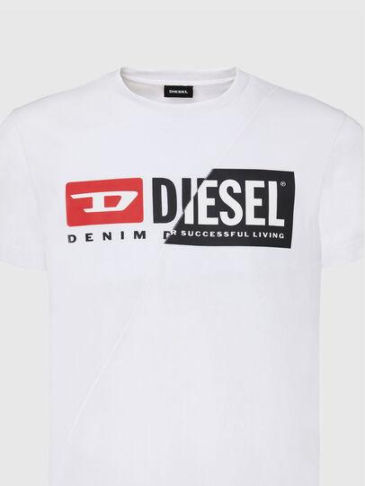Diesel - T-DIEGO-CUTY, Bianco - T-Shirts - Image 3