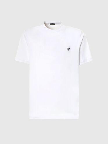 T-Shirt a tinta unita con toppa con logo Mohawk