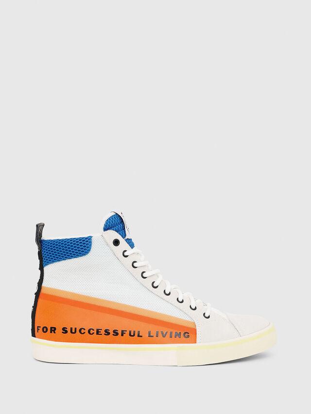 Diesel - S-DVELOWS MID, Bianco/Arancione - Sneakers - Image 1