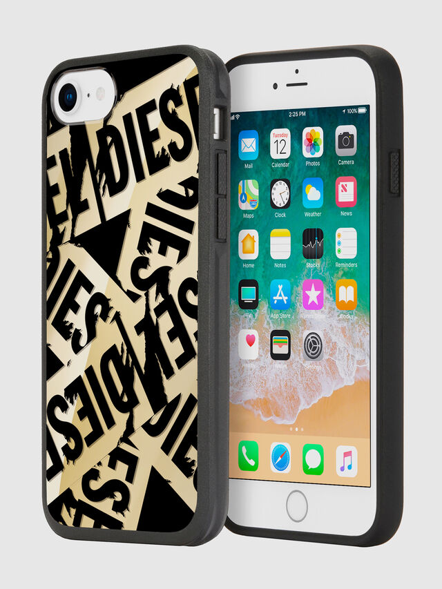 Diesel - MULTI TAPE GOLD/BLACK IPHONE 8/7/6S/6 CASE, Oro - Cover - Image 1