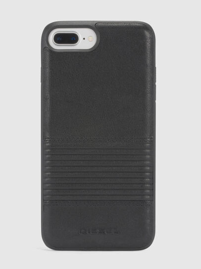 Diesel - BLACK LINED LEATHER IPHONE 8/7/6s/6 CASE, Nero - Cover - Image 2