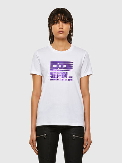 Diesel - T-SILY-K5, Bianco - T-Shirts - Image 1